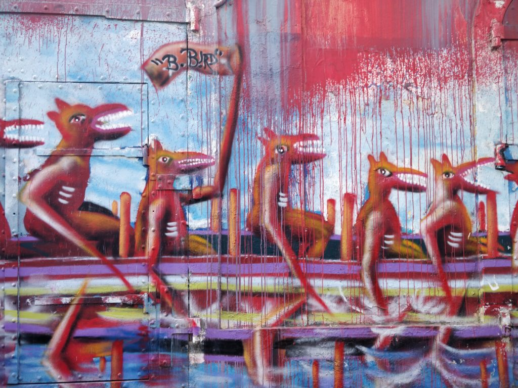 Grafitti w stolicy Basse-Terre