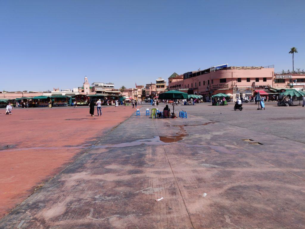 Główny plac w Marakeszu