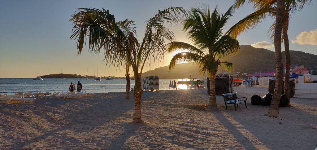 Zachód słońca w St. Maarten