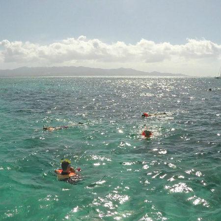 Snurkowanie na karaibskiej Gwadelupie