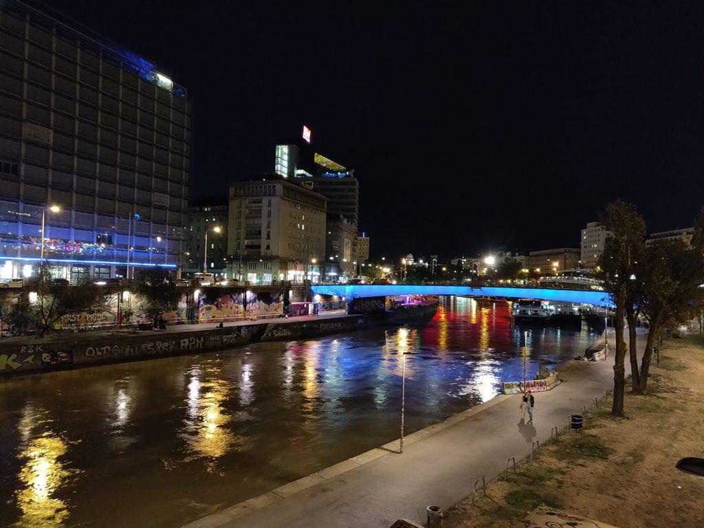Centrum Wiednia nocą