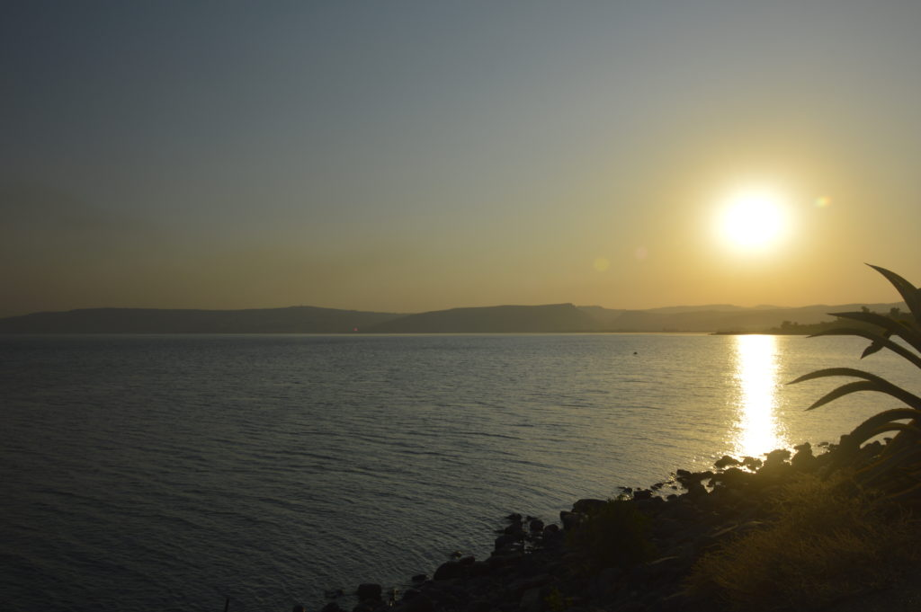 Izrael zachód słońca