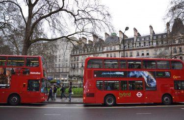 Londyn czerwony autobus