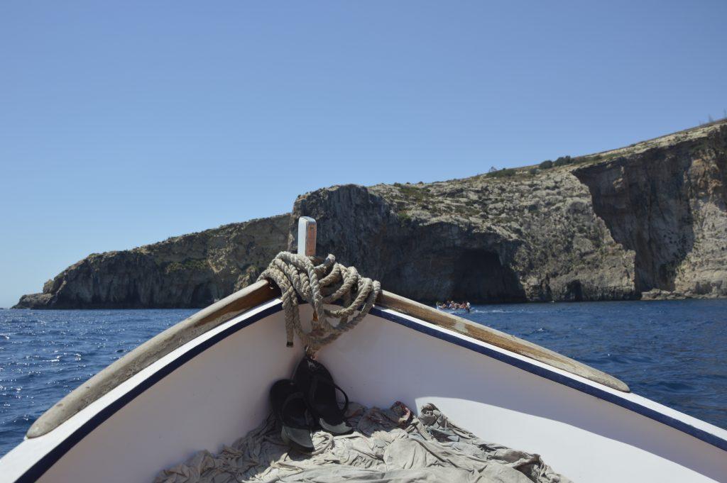 Blue Grotto łódka