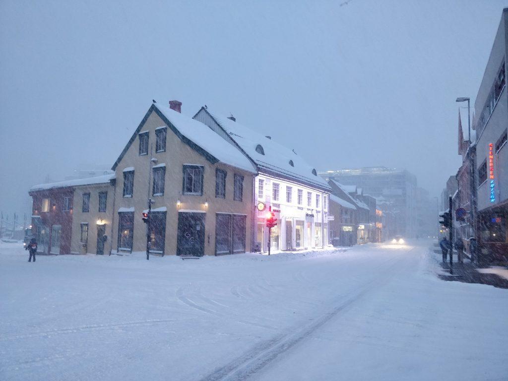 Tromso zimą