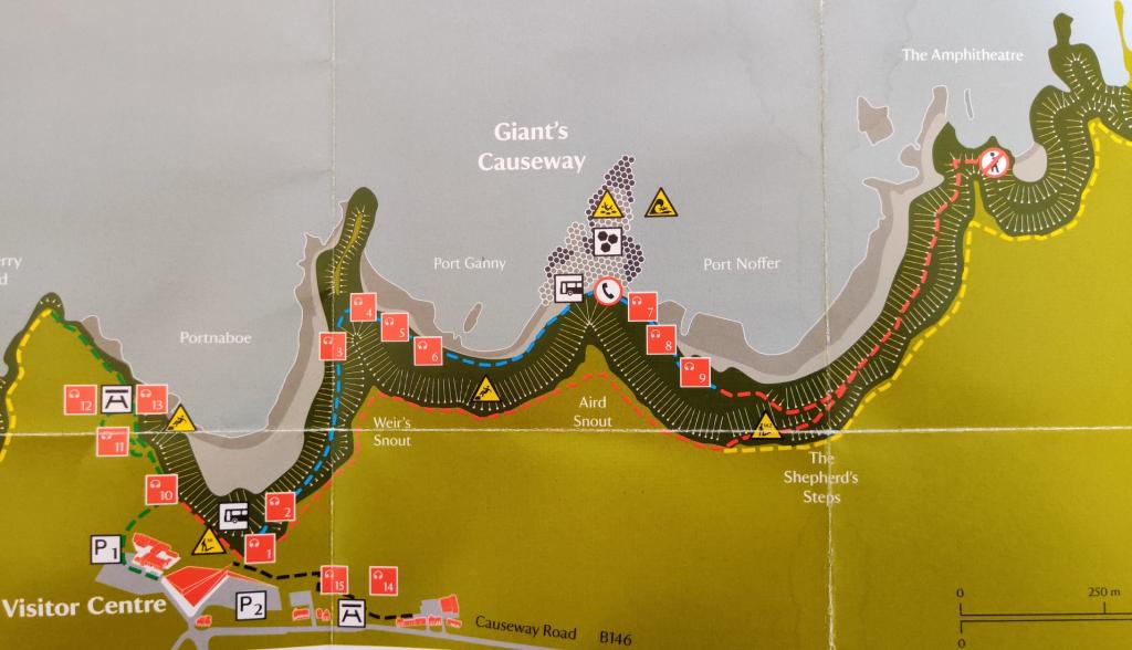 Giant's Casueway mapa