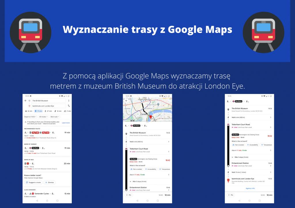 Wyznaczanie trasy z Google Maps