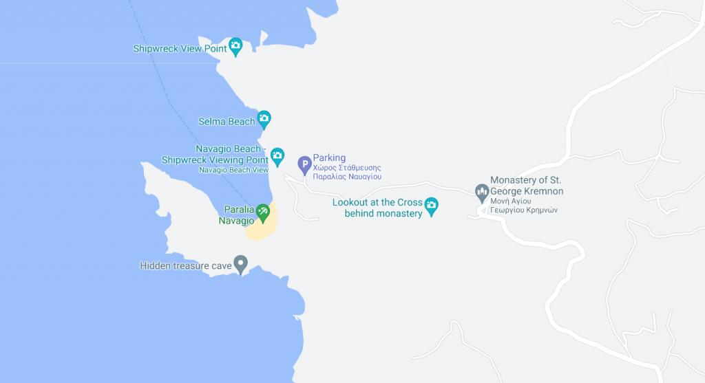 Zatoka Wraku mapa